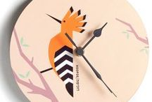Israeli Birds / Stylized, designs of birds of Israel, which we have produced on clocks, Tote bags, mugs, jewellery boxes