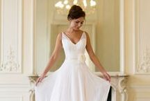 Wedding Dresses We Love / After the bride, wedding dresses are the most awe-inspiring (and sometimes show-stopping) feature of any wedding. From romantic lace wedding dresses to designer wedding dresses, dress yourself for the moment of a lifetime.  / by James Allen Rings
