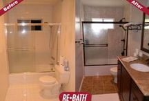 Re-Bath® Before & After / Amazing before-and-after photos of bathroom remodels done right!