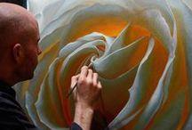 ART - Floral - Vincent Keeling / Oil paintings fine art and prints of flowers by artist Vincent Keeling. #Roses