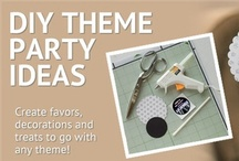 DIY Theme Party Ideas / Our DIY Theme Party Ideas will add to the allure of your party theme. These DIY Theme Party Ideas will show you how to create favors, decorations, and treats that will make it look like you spent hours creating them, when in fact most can be completed in just a few simple steps. Shindigz DIY Theme Party Ideas will change the way you do theme parties. / by Shindigz