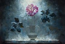 ART - Floral / Oil paintings of roses flowers. Roses, sunflowers, tulips etc
