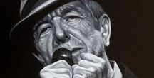 MUSIC - Leonard Cohen / A collection of photographs, art work, paintings and prints of Leonard Cohen.