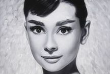 MOVIES - Audrey Hepburn / Photographs and paintings of icon of the silver screen Audrey Hepburn.