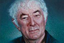 IRISH - Seamus Heaney / Photographs and paintings of Irish poet Seamus Heaney.