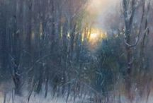 ART - Snow / Paintings and photographs of snow scenes.