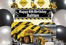 Construction Zone Party / Your little ones will love the personalized Big Trucks and Hard Hats in this party! / by Shindigz