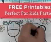 FREE Party Printables / Printables are fun for so many reasons! These great DIY Party ideas make a great addition to exclusive party themes from Shindigz or as a stand-alone activity on a rainy day.