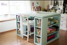 Studio ideas / Ideas for organizing my home office, craft room and studio all in one.