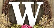 Wreaths & Front Door Decor / For wreaths, swags, garlands, monograms, banners and other beautiful things you can use to decorate your front door!