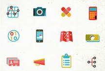 infografiikka, ikonit ja logot