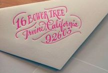 Envelopes.Stationary.Fonts / by Maggie Goodall