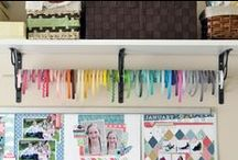 craft rooms, craft storage and organization / Ideas for storing and organizing craft supplies.