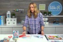 video tutorials / My paper craft and scrapbook project video tutorials