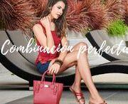 Combinación perfecta con sandalias rojas