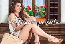 Combinación con shorts y zapatos rojos.