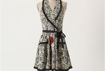 Aprons / I love aprons. Fashion for the kitchen! Doesn't get any better for my money. / by Kara Gregory