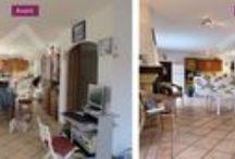Home staging Avant / Après / voici des réalisations de home staging, photos avant / après
