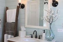 Bathroom Renovation Ideas / Ideas for renovating and updating my bathrooms. Cool features, ways to utilize space, and organization ideas.
