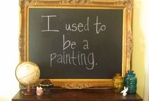 Chalkboard Art Ideas / I am not an artist. So these are some ideas for me to keep some art on my pantry chalkboard. Fun!