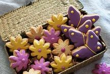 Spring Has Sprung / Raspberry Flower Shortbread Cookies, Butterfly Sugar Cookies, Sweet Lemon Squares and oh so much more!