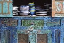 Vintage home/blue