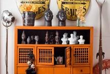 Vintage home/orange