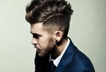Hairstyle of the man
