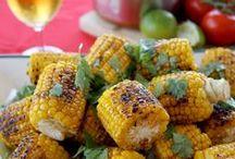 Veggie Recipes / Veggies, Veggie Recipes, Recipes, Vegetables, Vegetable Recipes, Corn, Corn on the Cobb, Squash, Asaparagus, Green Beans, Beans, Spinach, Carrots, Mushrooms