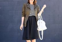She Got that Style--Black Skirt / How to style/what to wear with black skirts