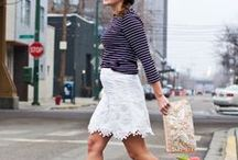 She Got that Style--White Skirt / How to style/what to wear with white skirt