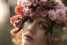 Nature Crowns / I want to wear a crown of flowers. I would look strange but I know I would feel beautifully strange.