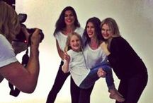 BTS | LUXURY T GIRLS / The girls behind the best selling Jane Ramsay Luxury T-shirts: Sidney, Rebecca, Rhiannon, and Tallulah.  Photographer: David Cook. Hair & Make-up: Alana Holmes