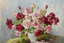 Vase Of Flowers Still Life ~ Art ⊰✿¸.•*ღ¸
