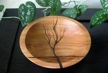 wood burning / Items made using the wood burning technique