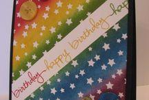 stamping - rainbow