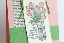 stamping - flowers / projects made with flower stamps, punches, framelits, etc