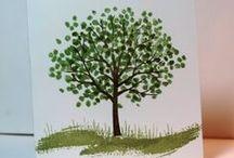 stamping - trees