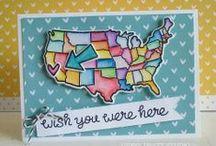 stamping - USA map