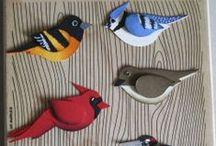 stamping - birds