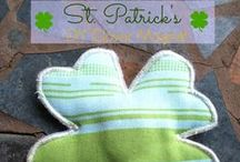 Holidays:  St Patricks Day sewing and craft doy projects / St Patricks SEwing Crafts and projects / by On the Cutting Floor