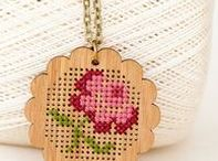 cross stitch crafts / Crafts that were made that include the technique of cross stitching