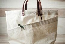 upcycled bags / A collection of upcycled bags