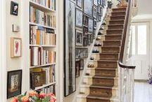 Hallways & Stairwells / stair risers, stairs, stairwells, hallways, hallway decorating ideas, stairwell decorating ideas