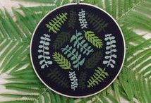 flowers and plants embroidery / Flowers, plants, succulent and cactus embroidery