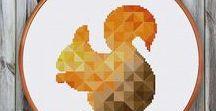geometric embroidery / geometric embroidery hoopart