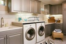 Laundry Room / Laundry doesn't have to be just about cleaning. Create an atmosphere ...