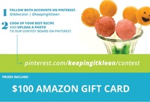 CONTEST! / DDW and Keeping It Kleen's Pinterest Recipe #Contest. Win Amazon Gift Cards & more: ddwcolor.com/recipecontestrules / by DD Williamson