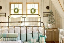 Bed, Bath and Beyond / If I could pull myself up off a window seat, or out of a dreamy garden, I'd find myself in one of these lovely spots.