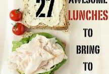 Easy Lunch From Home Recipes / Some days I just can't think of a fun school lunch, so here are some ideas!
